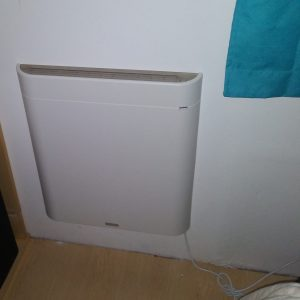 Envi wall heater mounted on wall